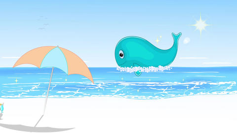 Summer vacation by the sea Animation with concept of holiday and travel Animation