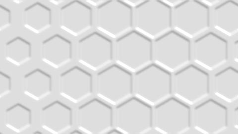 Hexagonal white abstract background - 3d abstract hexagons rendering Animation
