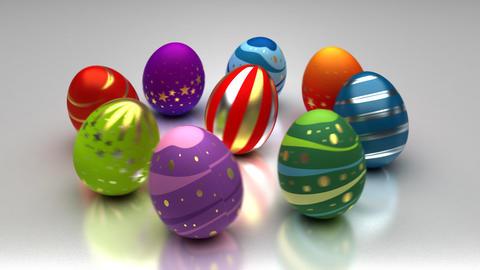 Easter Eggs Turning Around Animation