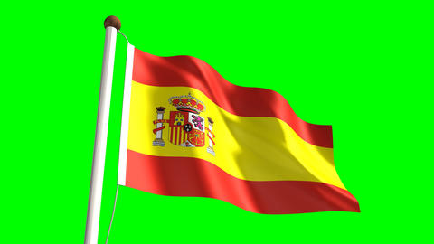 Spain flag Stock Video Footage