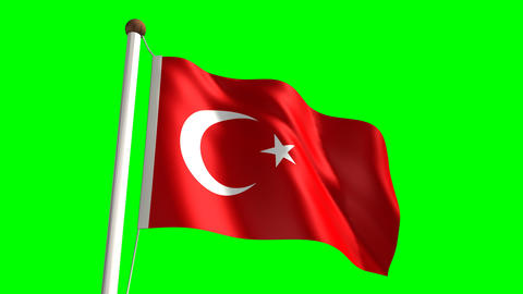 Turkey flag Stock Video Footage