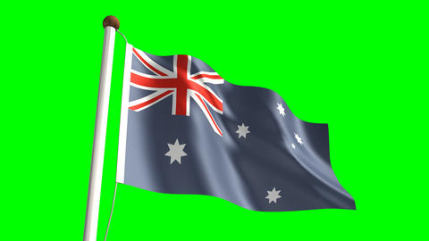 Australia Flag stock footage