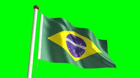Brazil flag Stock Video Footage