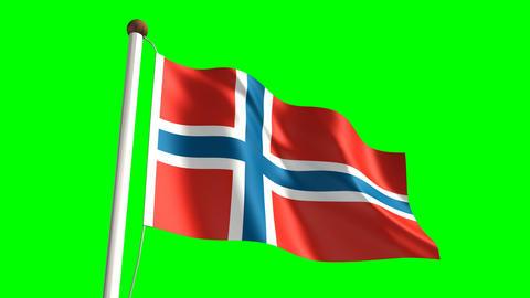 Norway flag Animation