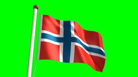 Norway flag Stock Video Footage