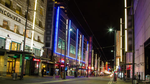 Granville Street is one of the Busy Street in Down Stock Video Footage