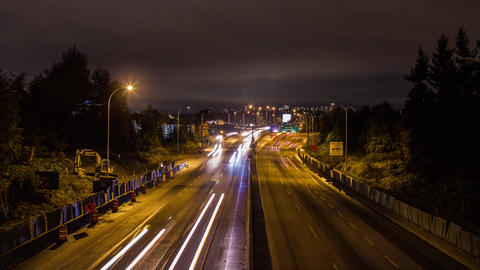 High Impact Busy Traffic of Highway #1 Vancouver Stock Video Footage