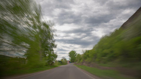 Country Road, Time Lapse stock footage