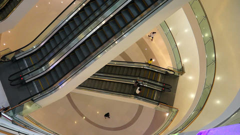 Escalator In A Shopping Mall stock footage