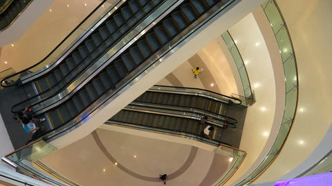 Escalator in a Shopping Mall Stock Video Footage