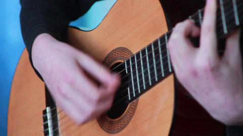Gitarre spielen 1 Stock Video Footage