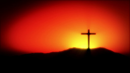 Crucifix Sunrise CG動画素材