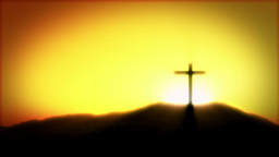 Crucifix Sunrise Stock Video Footage