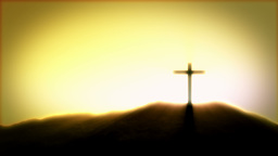 Crucifix Sunrise Stock Video Footage