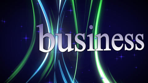 Business, moving text Animation