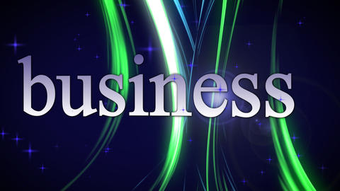 Business, moving text Stock Video Footage