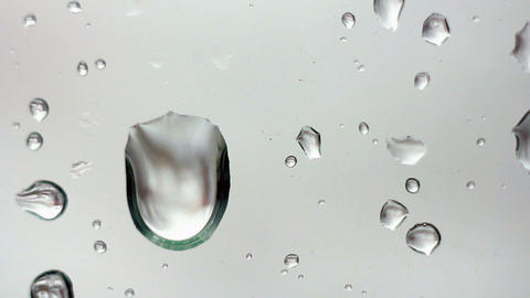 Drops on Glass 2 Stock Video Footage