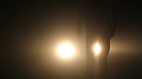 Man at night Stock Video Footage