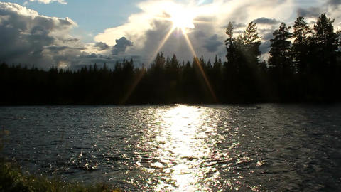 Sunny River Stock Video Footage