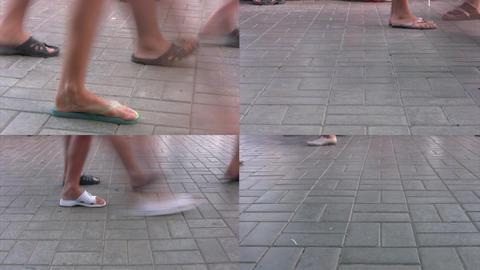 Summer promenade Footage