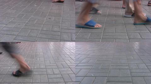 Summer promenade Stock Video Footage
