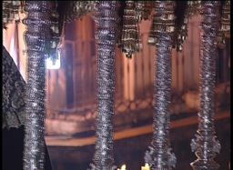Detail Of Throne In Spanish Holy Week stock footage