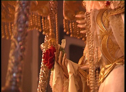 Detail  Of  Virgin  Image  In  Spanish  Holy  Week  2 stock footage