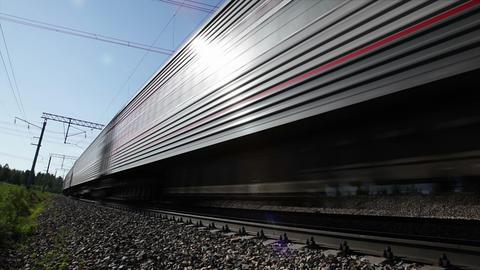 Passenger Train, seamless loop Stock Video Footage