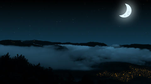 Night Mountains stock footage