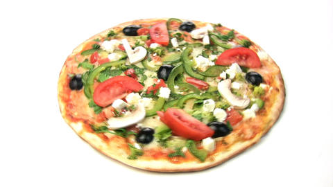 Vegetarian Pizza Rotate stock footage