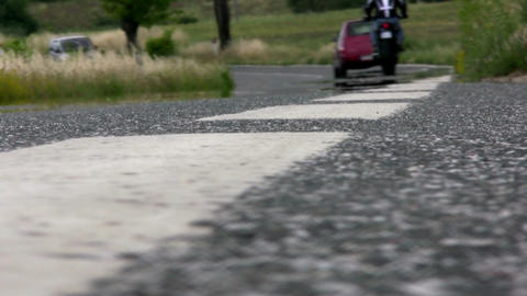 Mirage over the asphalt road Stock Video Footage