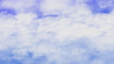 moving clouds, seamless loop Stock Video Footage
