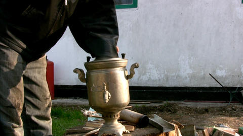 Russian samovar Stock Video Footage