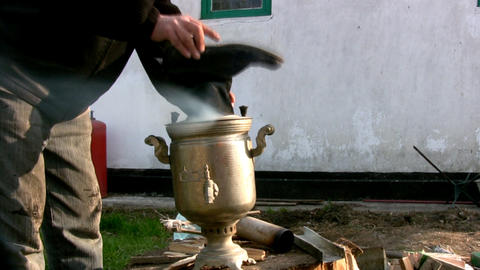 Russian samovar Footage