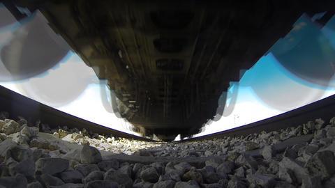 Train rail railroad stock tracks train transportation... Stock Video Footage
