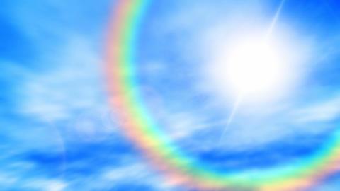Rainbow sky Stock Video Footage