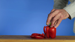 Sweet pepper Stock Video Footage