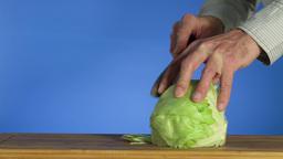 Vegetable salad Stock Video Footage