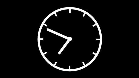 Clock Time Lapse, loop, HD Stock Video Footage