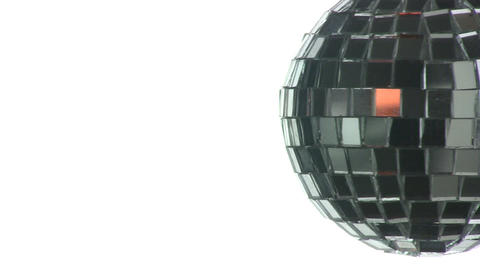 The mirror sphere on a white background Stock Video Footage