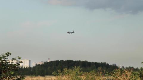 plane flies Stock Video Footage