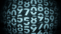 Random Numbers Background Stock Video Footage