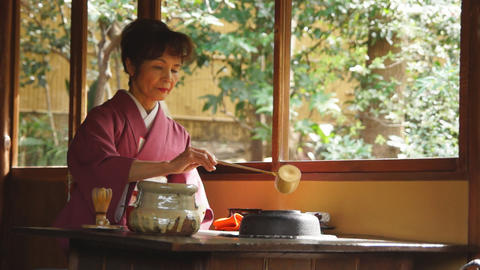 Tea Ceremony stock footage