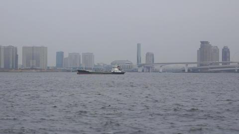Tokyo Harbor stock footage