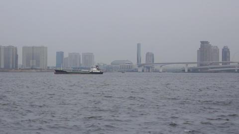 Tokyo harbor Stock Video Footage
