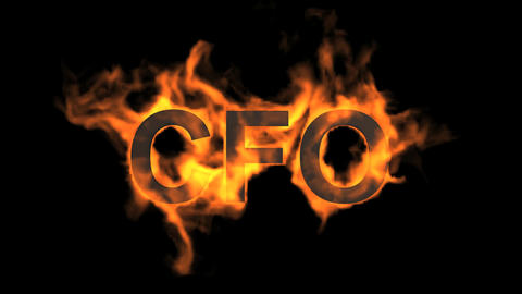 flame CFO word,fire text Stock Video Footage