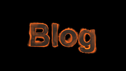 flame blog word,fire text Stock Video Footage