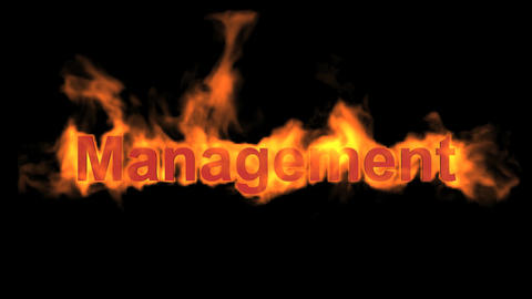 flame management word,fire text Stock Video Footage