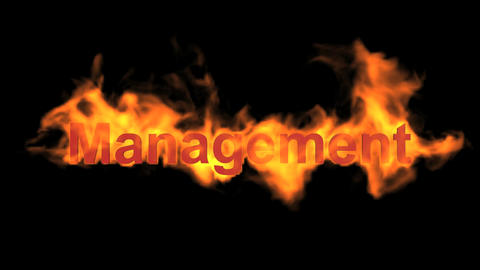 flame management word,fire text Animation