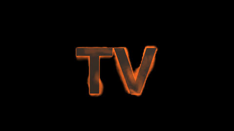 flame TV word,fire text Stock Video Footage